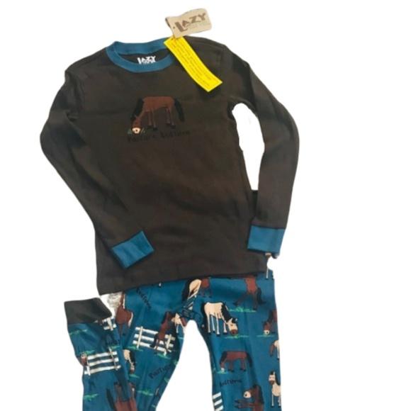 LazyOne Boys Spider Bear Kids PJ Set Long Sleeves